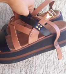Kozne crne sandale snižene●