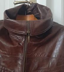 Ženska kožna jakna braon 44 L