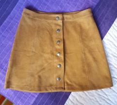 Velur suknja S nova