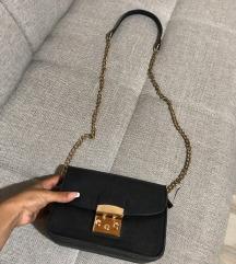 Crno zlatna torbica like Perla