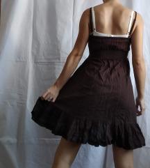Čokoladno braon letnja haljina sa karnerima