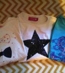 Vise stvari, tri majice dugih rukava za devojcice