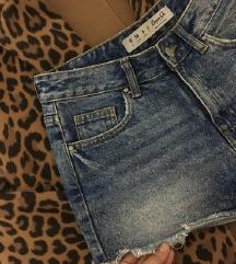 Denim&Co teksas šorts- dubok struk