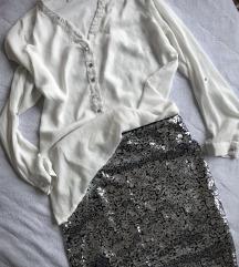 H&M srebrna suknjica