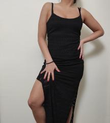FB SISTER končana maxi haljina sa prorezima NOVA