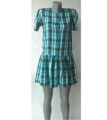 haljina svilena karirana broj S