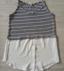 Crno bela crop top majica