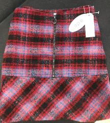 Esprit zimska postavljena suknja vuna