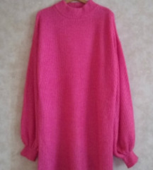 Primark pink dzemper haljina