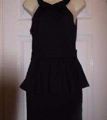 Crna peplum elegantna haljina, Vel M