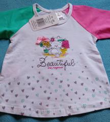 Pamucna bluza za bebu devojcicu 12 m