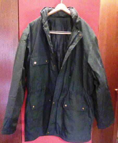 Tamnozelena muska jakna -