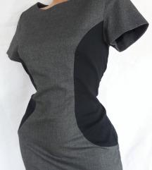 APRODUCT ✿ grafitno-crna poslovna haljinica