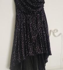 NLY TREND crna asimetrična haljina na jedno rame