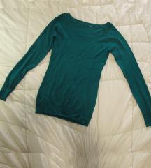 415. Džemper / kardigan, trava zelene boje