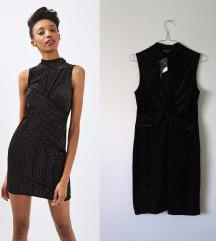 Rezz TOPSHOP velvet/glitter haljina