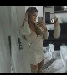 Pletena bež haljina