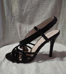 Crne sandale  40  (kao novo)