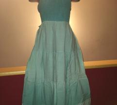 Letnja svetloplava tirkizna duga haljina