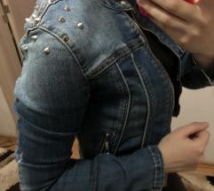 Nova kratka teksas jakna sa nitnama