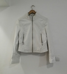 AKCIJA! Bela kožna jakna