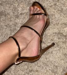 Zlatno/ rose gold sandale