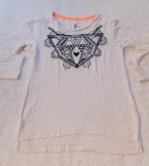 LEFTIES Aztec bela majica sa crnim koncem