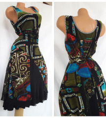 MODE EXPRESS *-* neobična slojevita haljina vel 42