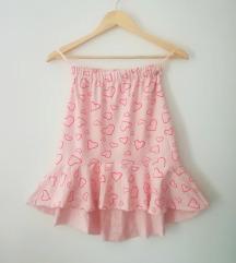 Nova asimeteicna suknja sa karnerom, M velicina