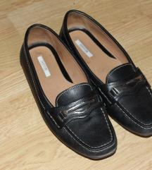 Crne kozne cipele sa snalom