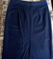 Klasična suknja tamnoteget boje vel 42