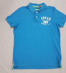 Superdry original muska majica plava na kragnu