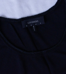 CIVIDINI skupocena zift crna bluza 100% svila