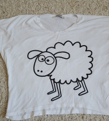 Crop top majica sa ovciciom