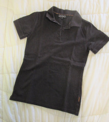 550. Polo pamučna majica kratkih rukava, braon