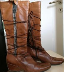 Kožne braon čizme