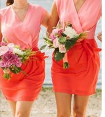 SNIŽENO !H&M coralna haljina XL