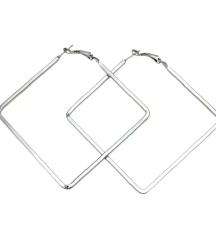 Kvadratne alke srebrna boja
