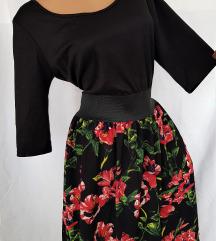 LESARA ★ crna retro flamenco haljina ★ L/XL NOVO