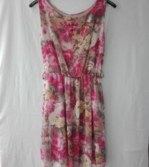 Floral roze haljinica