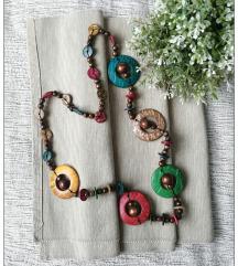 Šarena drvena ogrlica
