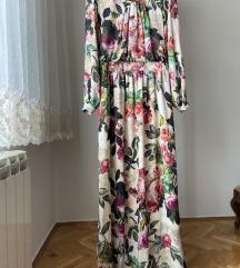 Duga cvetna haljina predivna