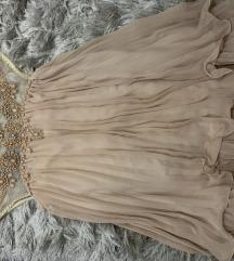Nude haljinica sa perlicama