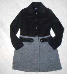 Predivan vuneni KOTON kaput kao nov REZZ