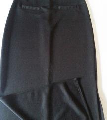Duga crna suknja od zerseja S/M