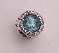 PANDORA plavi kružić S925