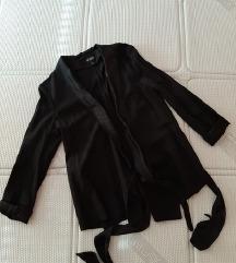 H&M  crni sako na vezivanje