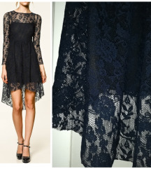 Zara cipkasta asimetricna haljina