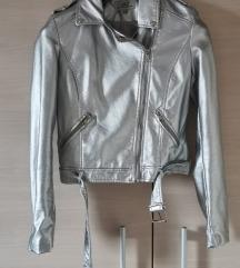 Srebrna efektna jaknica