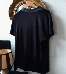 Majica VILA clothes sa kragnom od kože